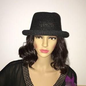 Accessories - Boutique Black Woven Hat